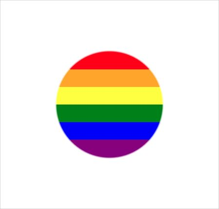 Flag, lgbt, rainbow icon Vector illustration flat