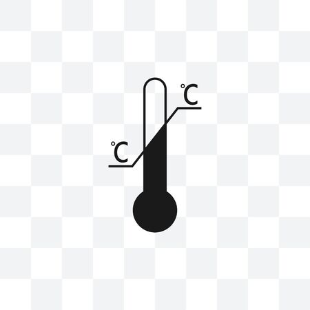 Vector illustration, flat design. Temperature limitation symbol Ilustrace