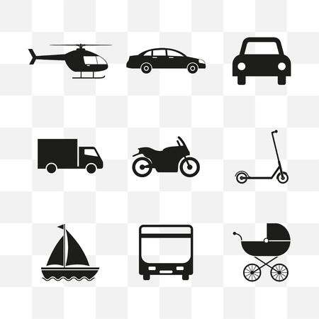 Transport, Logistics, vehicle icon Vector illustration flat