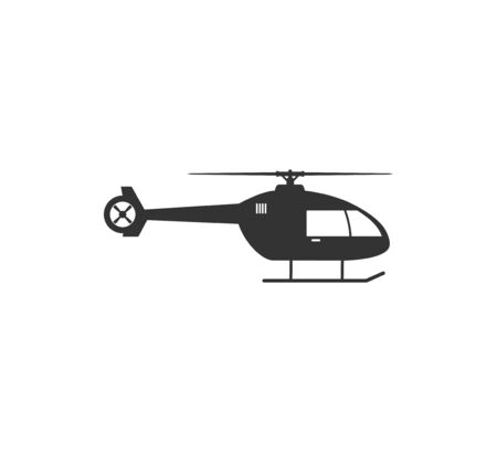 Helicopter, chopper icon illustration flat