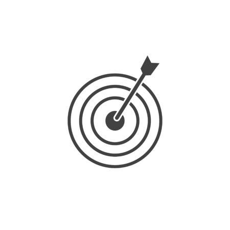Vector illustration, flat design Goal, target icon
