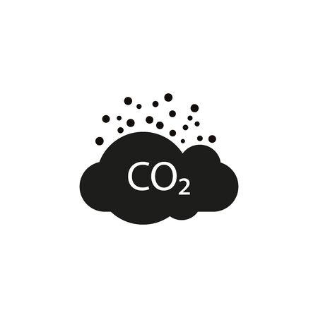 Co2, ecology, cloud icon. Vector illustration, flat design.