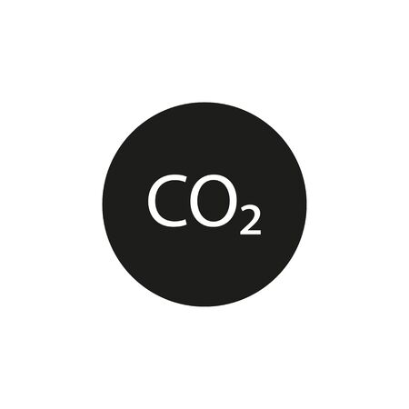 Co2, ecology, cloud icon. Vector illustration, flat design.