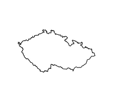 Czech republic map on white background. Vector