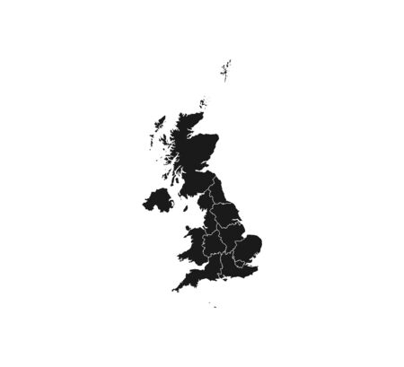 United Kingdom map on white background. Vector