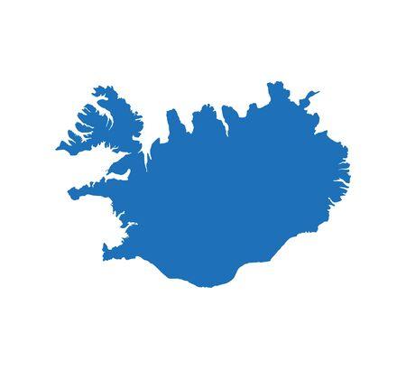 Iceland on white background. Vector Vettoriali