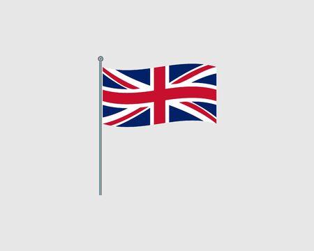 United Kingdom Flag. Official flag of United Kingdom. Vector