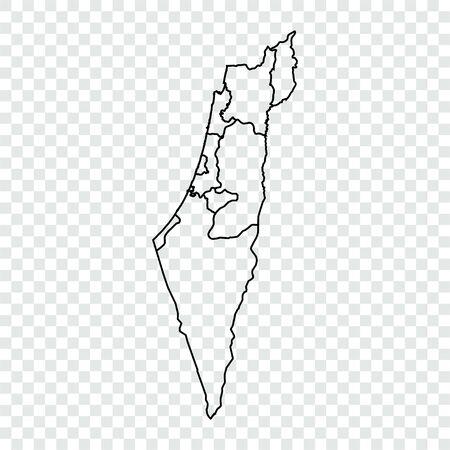Israele mappa sfondo trasparente. Contorno.