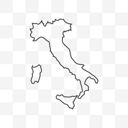 map on transparent background. Vector illustration.