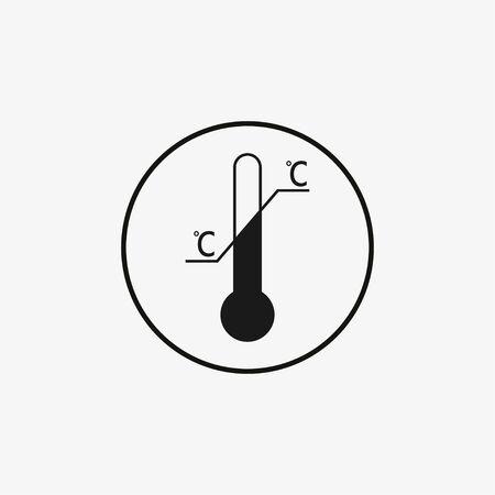 Symbole de limitation de température. Illustration vectorielle plate Vecteurs
