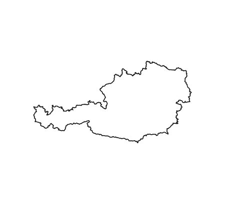 Austria map on white background. Vector