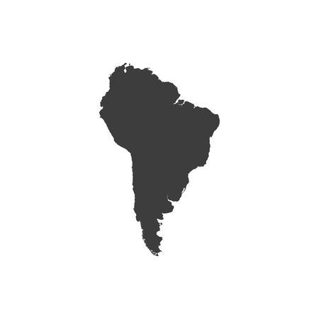 South America map vector on white background 向量圖像