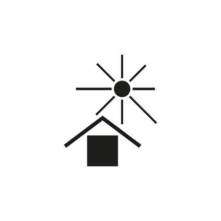 Vector illustration, flat design. Protect from sunlight sign Vektorové ilustrace