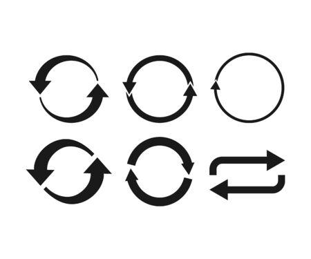 Vector illustration, flat design Arrows refresh, recycling icon
