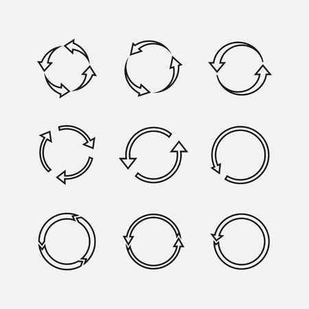 Vector illustration, flat design Arrows refresh, recycling icon