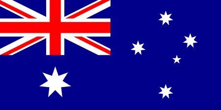 Australia Flag. National Australian Flag. Çizim