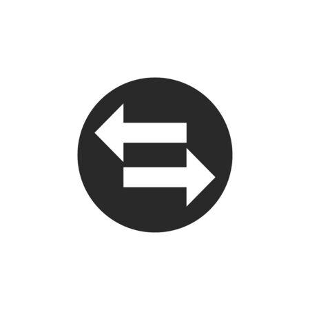 Vector illustration, flat design Transfer arrow icon Ilustrace