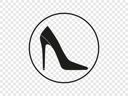Vector illustration, flat design. High heel shoe icon Stock Illustratie