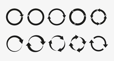 Illustration vectorielle, design plat Actualisation des flèches, icône de recyclage Vecteurs