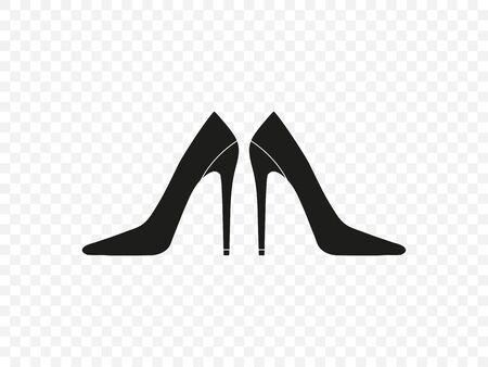 Vector illustration, flat design. Footwear, high heel shoe icon Stock Illustratie