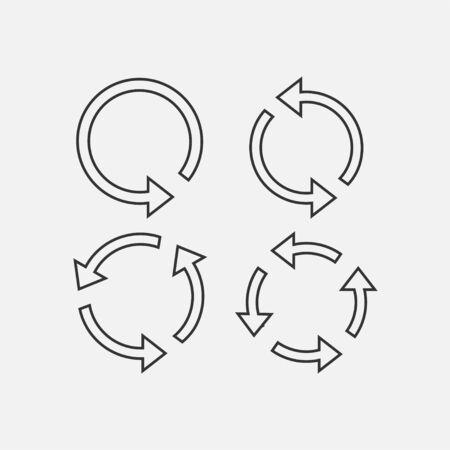 Vector illustration, flat design Arrows refresh, recycling icon Vettoriali