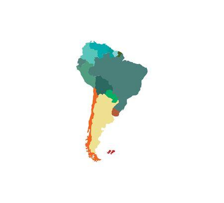 Karte auf weißem Hintergrund. Vektor-Illustration.