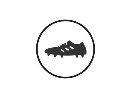 Football boots, shoe icon Vector illustration Ilustrace