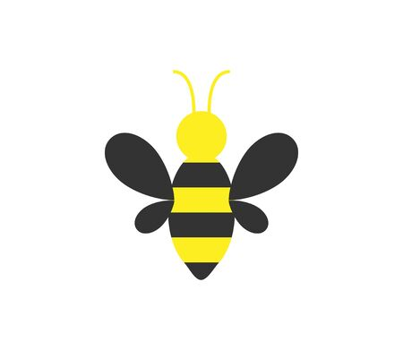 Vector illustration, flat design. Bee honey icon