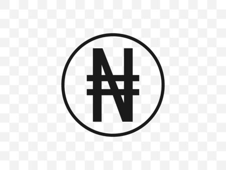 Vector illustration, flat design Nigerian Naira currency symbol