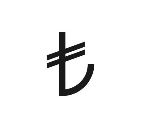 Vector illustration, flat design Turkey, turkish lira icon