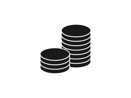 Vector illustration, flat design. Coins stack money icon 일러스트