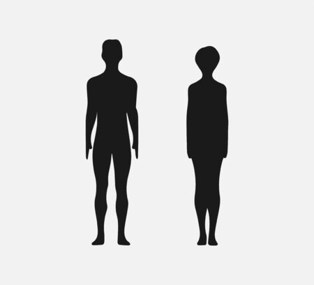 Woman and man silhouette. Vector illustration. Flat. Foto de archivo - 139896029