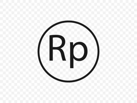 Indonesian rupiah icon. Vector illustration, flat design Stock fotó - 139896041