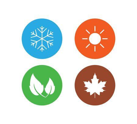 Four season icon. Vector illustration, flat design. Illustration