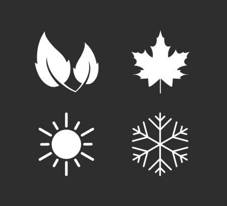 Vector illustration, flat design. Four season icon