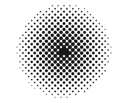 Halftone, transition monochrome dotted Vector Illustration