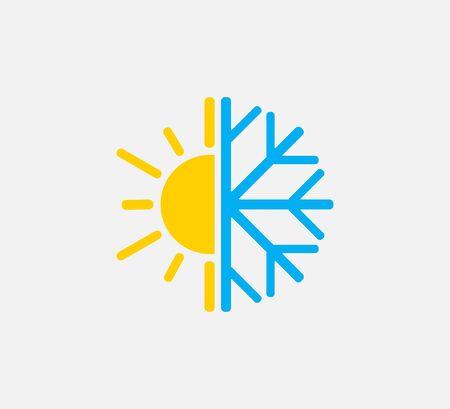 Vector illustration, flat design. Hot cold icon