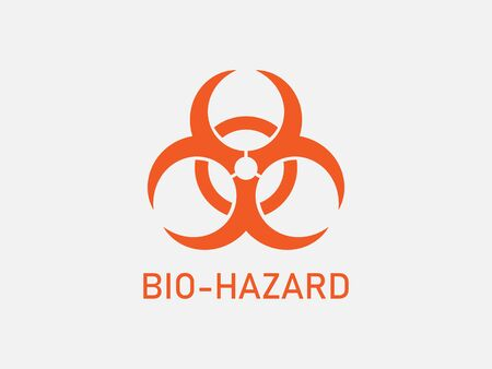 Vector illustration, flat design. Biological Hazard sign Illustration