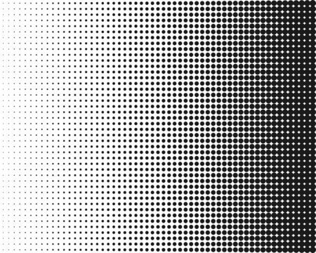 Halftone, transition monochrome dotted pattern Vector Vetores