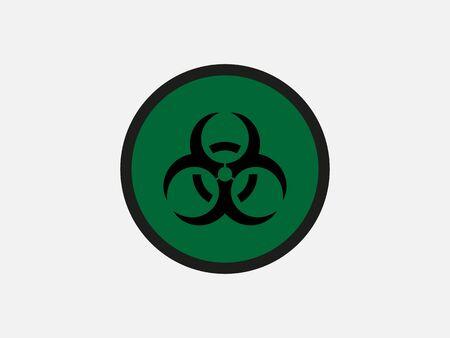 Vector illustration, flat design. Biological Hazard sign Ilustrace