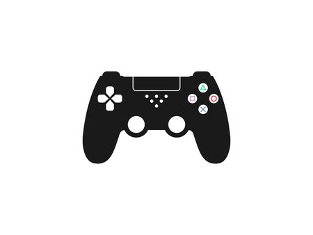 Vector illustration, flat design. Controller joystick icon