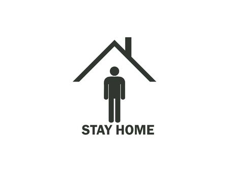 Stay home icon. Vector illustration, flat design.