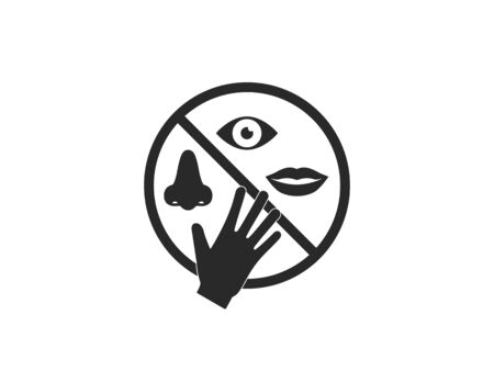 Avoid touching your face. Vector illustration,