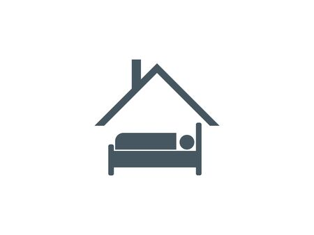 Vector illustration, flat design. Stay home icon