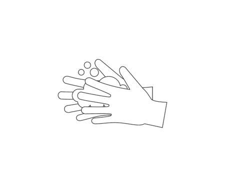Hand washing icon. Vector illustration flat