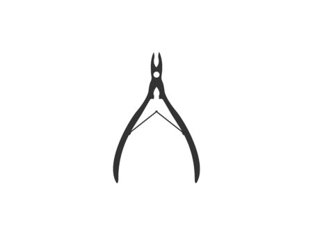 Vector illustration, flat design. Cuticle nipper icon