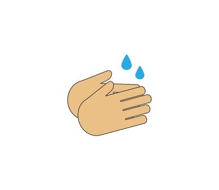 Hand washing icon Vector illustration, flat design.