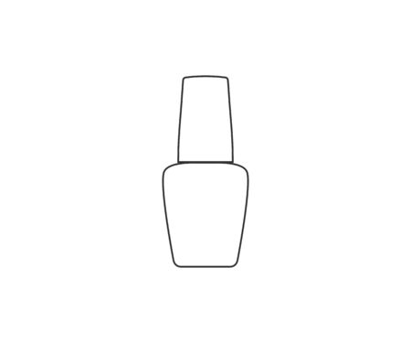 Vector illustration, flat design. Nail polish icon  イラスト・ベクター素材