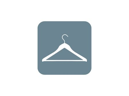 Vector illustration, flat design. Clothes hanger icon