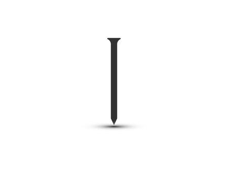 Metal, nail icon Vector illustration flat